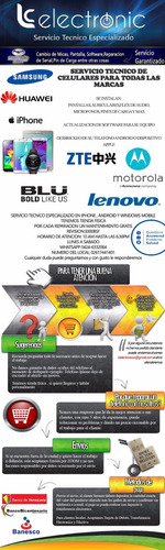 servicio técnico de telefonos ,apertura de banda,software,lg
