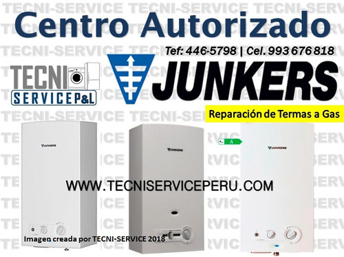 servicio técnico de termas junkers a domicilio