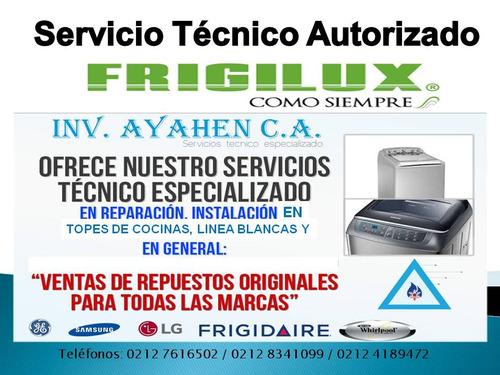 servicio técnico  de tope frigilux y hornos