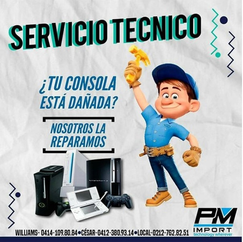 servicio tecnico de xbox 360, ps2, ps3, ps4, 3ds y mas..