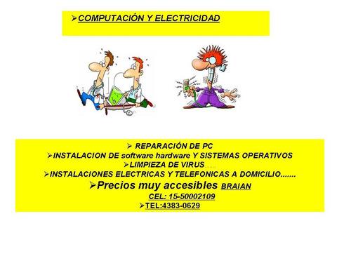 servicio tecnico electricista pc(cap.f) montserrat sr braian