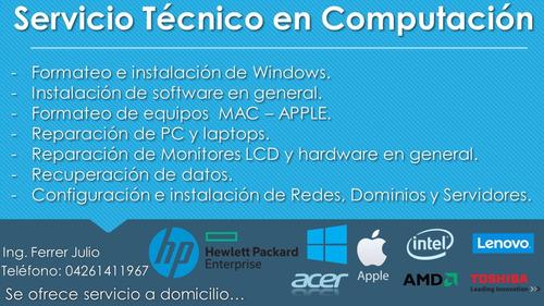 servicio tecnico en computacion, pc - laptops y otros