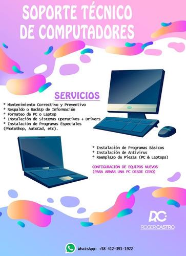 servicio tecnico en computadoras y laptop