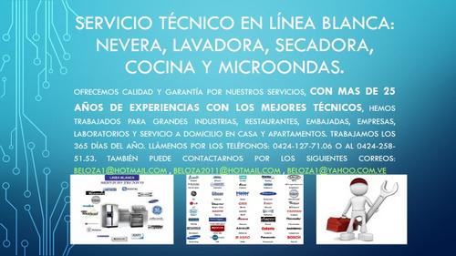servicio técnico en línea blanca: cocina, nevera, lavadora,