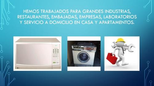 servicio técnico en línea blanca: cocina, nevera, lavadora.