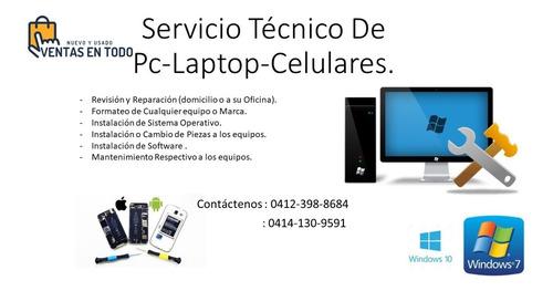 servicio tecnico en pc-laptop- celulares