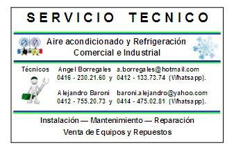 servicio técnico en refrigeración comercial
