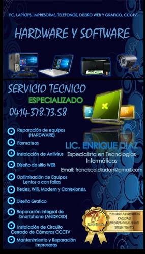 servicio tecnico en reparacion de multiples plataformas
