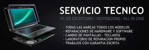 servicio técnico en reparación y mantenimiento de notebook