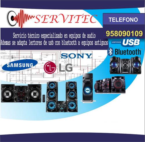 servicio tecnico equipos audio sonido