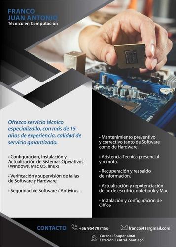 servicio técnico especializado en computación