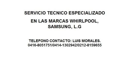 servicio técnico especializado en la marca whirpool
