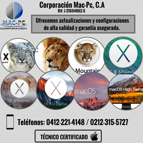servicio tecnico especializado para macintosh apple mac