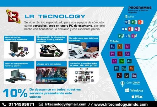 servicio tecnico especializado para todo tipo de computador