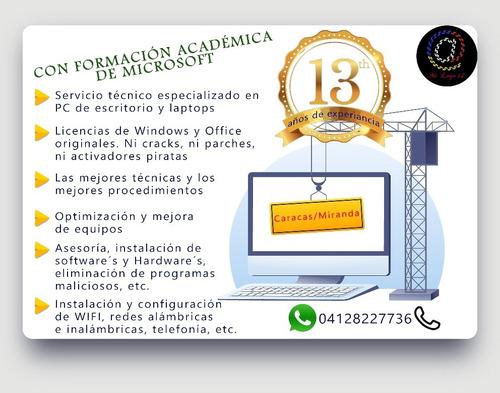 servicio técnico especializado pc y laptops e internet a.b.a