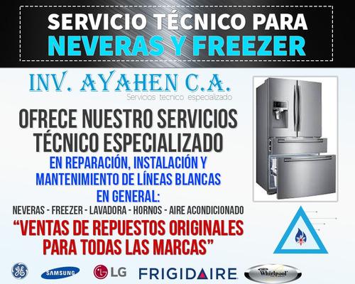 servicio técnico especializado whirlpool frigidaire neveras