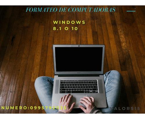 servicio técnico formateo de computadoras