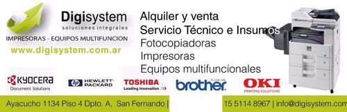 servicio técnico fotocopiadoras brother/ kyocera/ hp/ oki