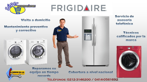 servicio técnico frigidaire reparación lavadoras neveras
