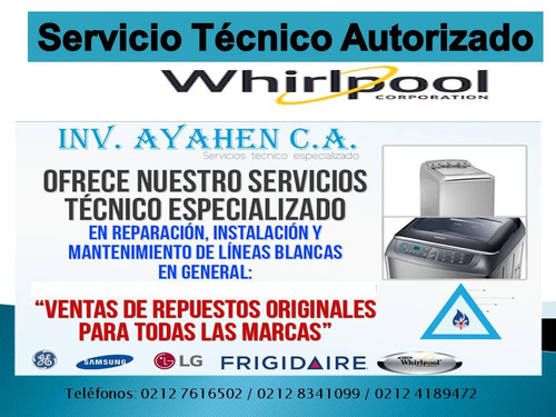 servicio tecnico  frigilux whirpool frigidaire