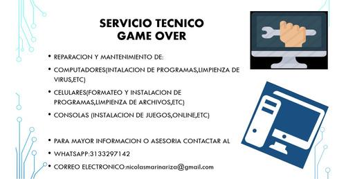 servicio tecnico game over