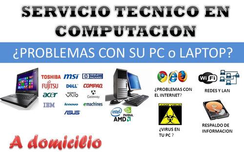 servicio técnico hp computadoras, laptop, formateo domicilio
