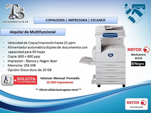 servicio técnico impresora y multifuncional xerox, hp, canon