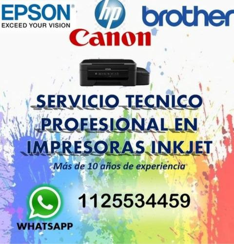 servicio técnico impresoras epson, brother, canon, hp