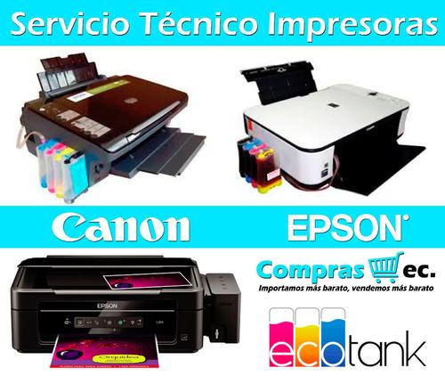 servicio tecnico impresoras epson y canon sistema de tinta