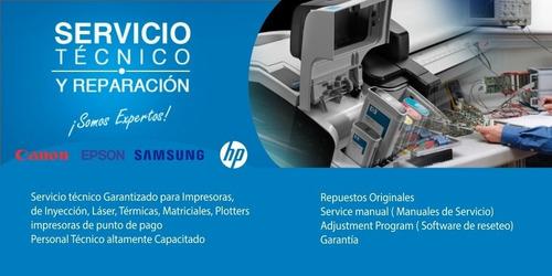servicio técnico impresoras epson,canon,hp,