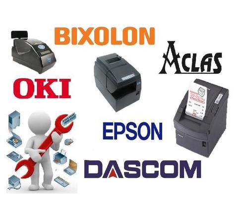 servicio técnico impresoras fiscales bixolon hka tally aclas