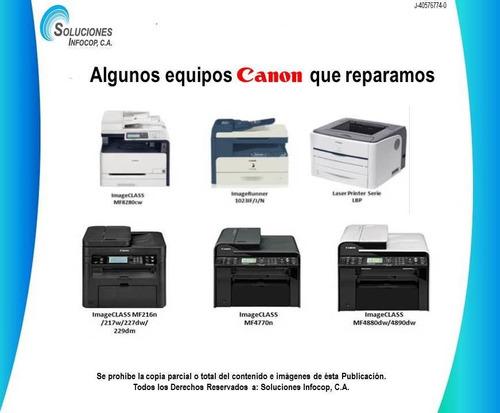 servicio técnico impresoras láser hp y fotocopiadoras canon