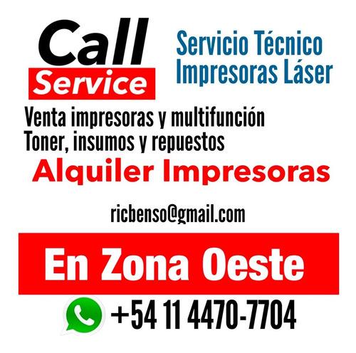 servicio técnico impresoras laser, reparaciones con garantía