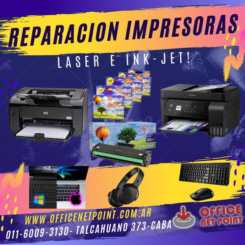 servicio técnico impresoras , reparaciones con garantía