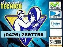 servicio técnico  instalación directv, movistar, inter,