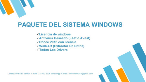 servicio técnico instalación y formateo windows domicilio