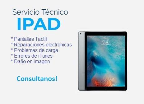 servicio técnico ipad: pantallas, software, etc