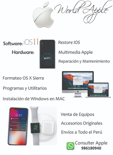 servicio técnico iphone macbook ipad by world apple arequipa