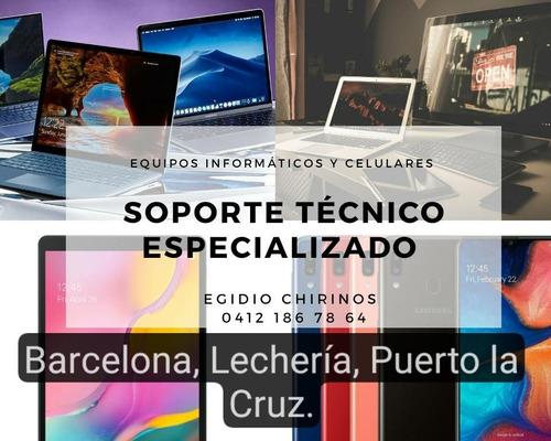 servicio técnico laptop, pc escritorio, celulares, tablets.