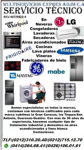 servicio tecnico lg y samsung lavadora secadora nevera