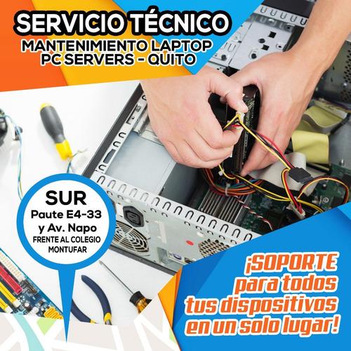 servicio técnico mantenimiento laptop pc servers quito