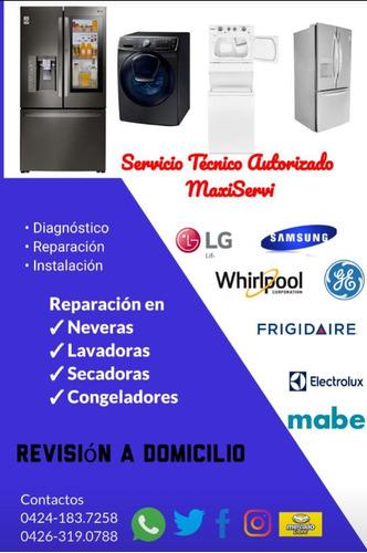 servicio tecnico nevera lavadora lg samsung mabe whirlpool