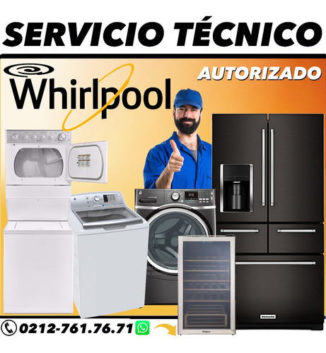 servicio tecnico nevera whirlpool lavadora secadora icemaker