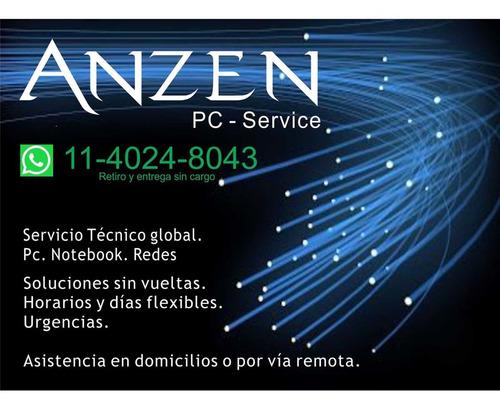 servicio técnico notebook reparación pc. instalación mejoras