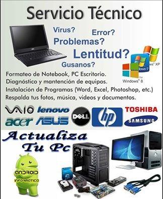 servicio tecnico oficial notebook netbook local zona norte*