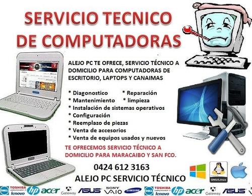 servicio técnico para computadoras, laptops, minilaptop, etc