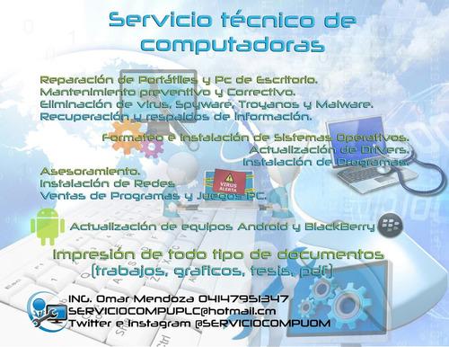 servicio tecnico para computadoras y consultoria it
