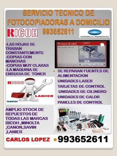 servicio tecnico para fotocopiadoras ricoh,minolta,canon
