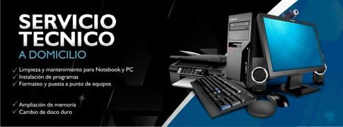 servicio técnico para laptops y computadoras pc a domicilio