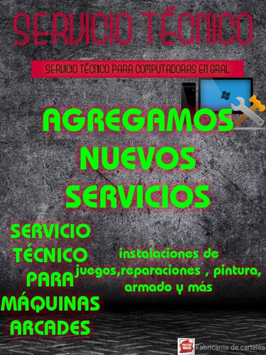 servicio técnico para máquinas arcades
